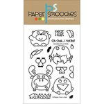 Paper Smooches - Clear Acrylic Stamps - Chubby Chum Pals