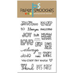 Paper Smooches - Clear Acrylic Stamps - Word Salad