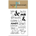 Paper Smooches - Clear Acrylic Stamps - We Connect