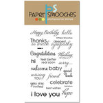 Paper Smooches - Clear Acrylic Stamps - Salutations