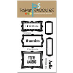 Paper Smooches - Clear Acrylic Stamps - Fancy Frames