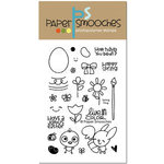 Paper Smooches - Clear Acrylic Stamps - Spring Fling