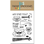 Paper Smooches - Clear Acrylic Stamps - Hooties