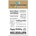 Paper Smooches - Clear Acrylic Stamps - Happy Birthday