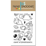 Paper Smooches - Clear Acrylic Stamps - Cuteasaurus