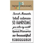 Paper Smooches - Clear Acrylic Stamps - Headliners
