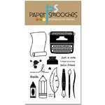 Paper Smooches - Clear Acrylic Stamps - Just a Note