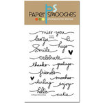 Paper Smooches - Clear Acrylic Stamps - Scripty Sayings