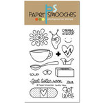 Paper Smooches - Clear Acrylic Stamps - Healthy Vibes