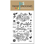 Paper Smooches - Clear Acrylic Stamps - Blossoming Buds