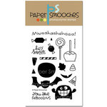 Paper Smooches - Halloween - Clear Acrylic Stamps - Ghoulfriends