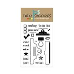 Paper Smooches - Clear Acrylic Stamps - Clipboards Two