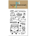 Paper Smooches - Christmas - Clear Acrylic Stamps - Santa Paws