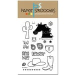 Paper Smooches - Clear Acrylic Stamps - Buckaroo