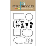 Paper Smooches - Clear Acrylic Stamps - He Said, She Said