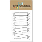 Paper Smooches - Clear Acrylic Stamps - Streamers