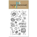 Paper Smooches - Clear Acrylic Stamps - Friendly Flowers
