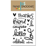 Paper Smooches - Clear Acrylic Stamps - Bold Buzzwords