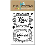 Paper Smooches - Clear Acrylic Stamps - Flirty Frames