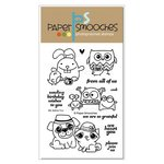 Paper Smooches - Clear Acrylic Stamps - We Adore You