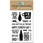 Paper Smooches - Clear Acrylic Stamps - Daddy Yo