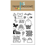 Paper Smooches - Clear Acrylic Stamps - Little Lady