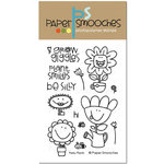 Paper Smooches - Clear Acrylic Stamps - Perky Plants