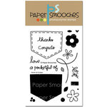 Paper Smooches - Clear Acrylic Stamps - Denim and Daisies