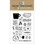 Paper Smooches - Clear Acrylic Stamps - Cyber Cafe