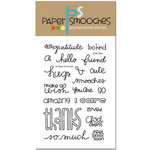 Paper Smooches - Clear Acrylic Stamps - Chit Chat