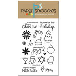 Paper Smooches - Christmas - Clear Acrylic Stamps - Merry Motifs
