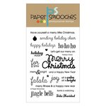Paper Smooches - Christmas - Clear Acrylic Stamps - Holiday Cheer