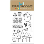 Paper Smooches - Christmas - Clear Acrylic Stamps - Warm Hearts