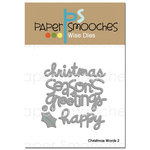 Paper Smooches - Dies - Christmas Words 2