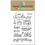 Paper Smooches - Christmas - Clear Acrylic Stamps - Joyful Greetings