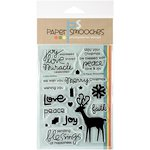 Paper Smooches - Christmas - Clear Acrylic Stamps - A Holy Holiday