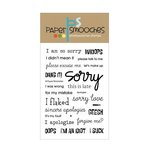 Paper Smooches - Clear Acrylic Stamps - Apologies