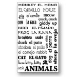 Piggy Tales - Rub-Ons - English and Spanish - Animals, CLEARANCE