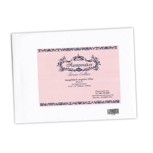 Teresa Collins Designs - Stampmaker Machine Accessories - 8.5 x 11 Imageblack Negative Film for Inkjet Printers - 10 Sheets