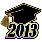 Paper Wizard - Graduation Collection - Grad Cap 2013 with Gold Tassel