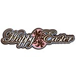 Paper Wizard - Holidays Collection - Die Cuts - Happy Easter Script
