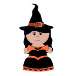 Paper Wizard - Halloween - Die Cuts - Trick or Treat Kids - Witch