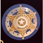 Paper Wizard - Travel Log Collection - Die Cuts - Deputy Sheriff's Badge