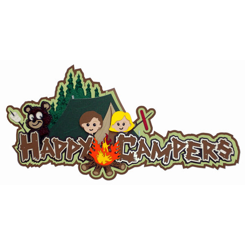 Paper Wizard - Die Cuts - Happy Campers