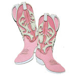 Paper Wizard - Travel Collection - Die Cuts - Cowboy Boots - Pink