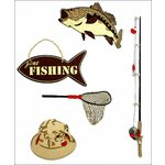 Paper Wizard - Die Cuts - Gone Fishin Minis