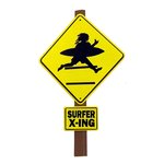 Paper Wizard - Beach Travel Collection - Die Cuts - Surfer Crossing Sign