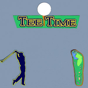 Paper Wizard - Die Cuts - Tee Time - Man, CLEARANCE