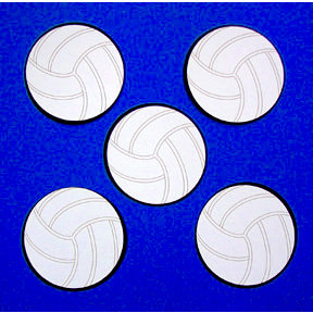 Paper Wizard - Die Cuts - Mini Volleyballs