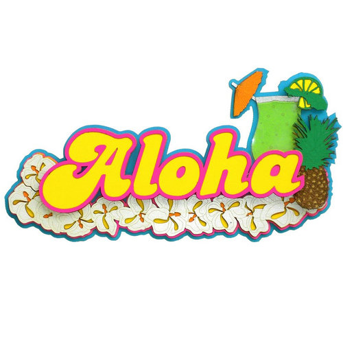 Paper Wizard - Hawaii Collection - Die Cuts - Aloha